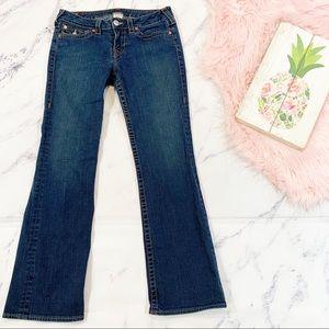 True Religion Med Dark Wash Becky Bootcut Jeans 31